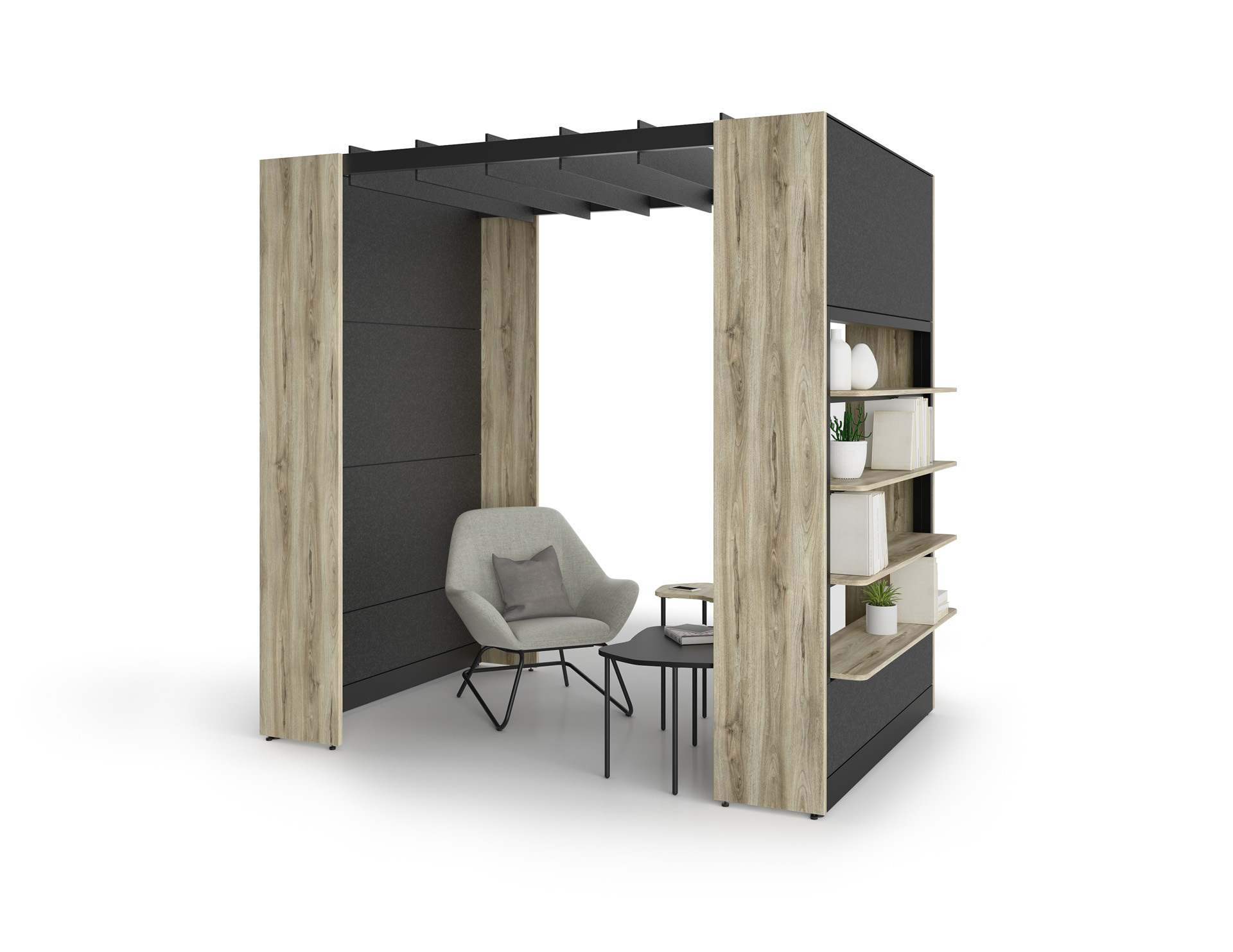 Axel Urban Design Projet Sharing Space Work Station Wood Public Val D Or Gyva Office