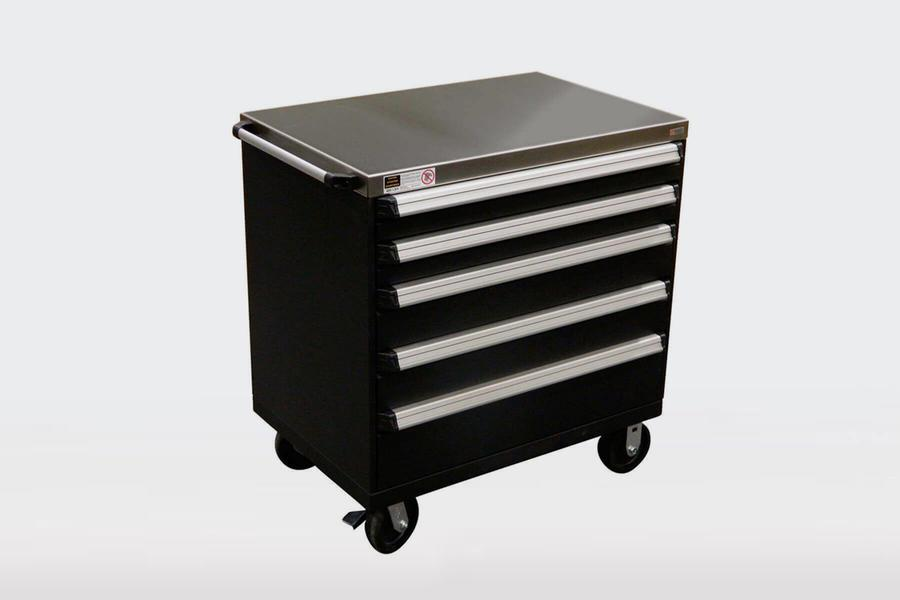 Montel Mobile Drawer Cabinets Black Grey Rangement Roulette