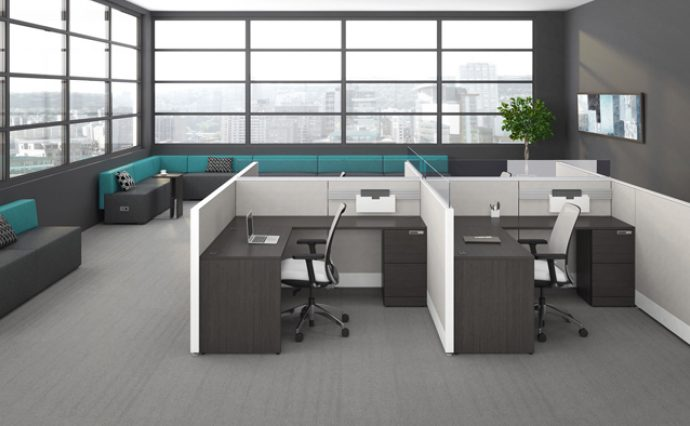 Uni T N7 System Furniture available at Gyva.ca the office store